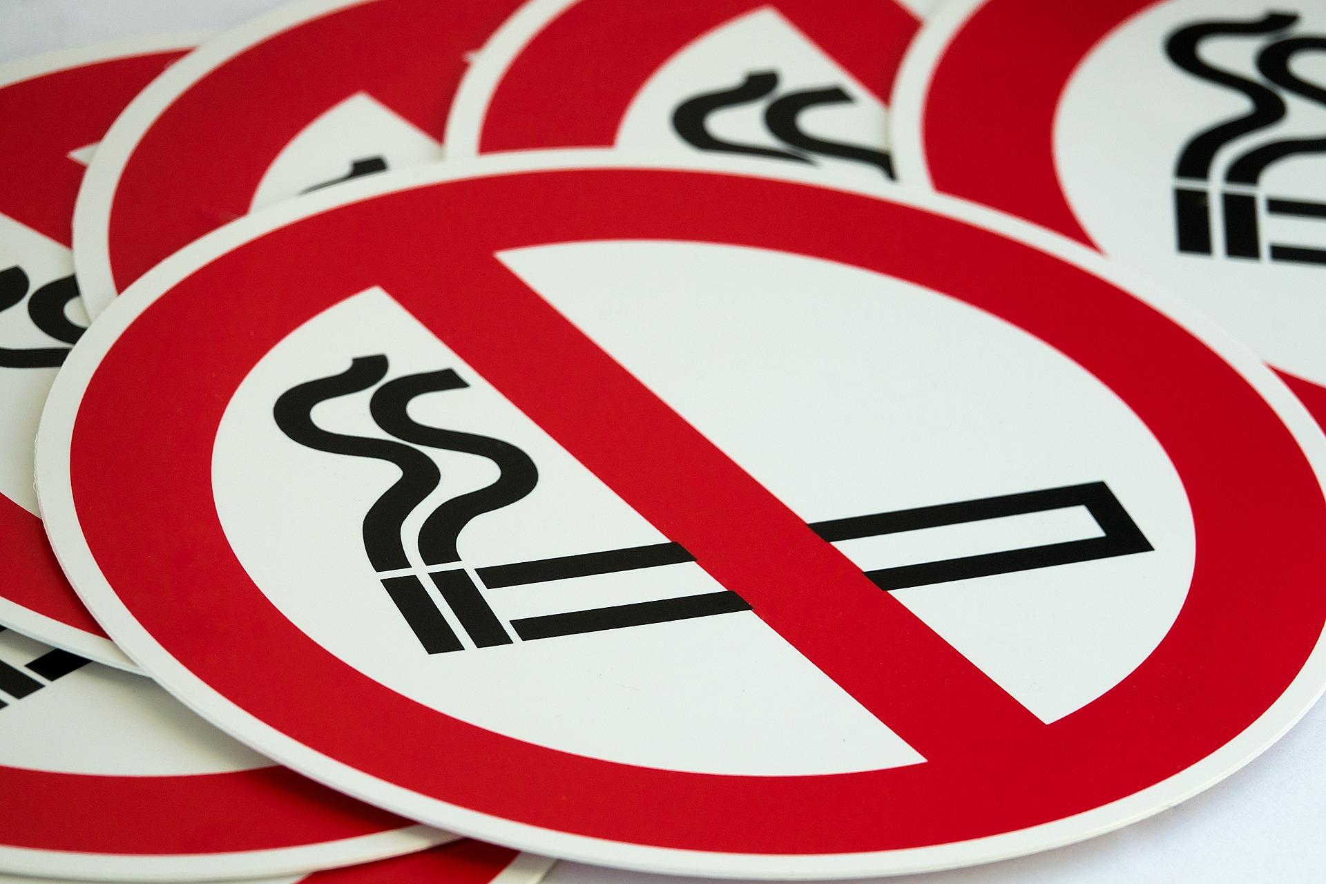 Schild Nichtraucher